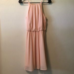 Francesca's halter neck baby pink mini dress